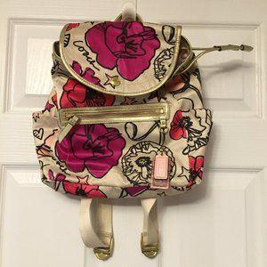 💗COACH Pink Poppy-Graffiti Glamour Kyra Backpack